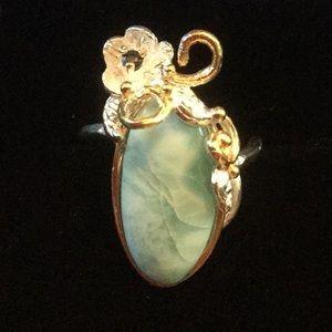 Genuine Larimar & Sapphire Ring